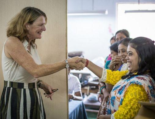 Marja Baas op bezoek in werkplaats India | MYOMY do goods